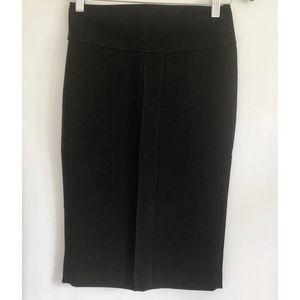 Zara Basic Pencil Skirt Black Size: XS